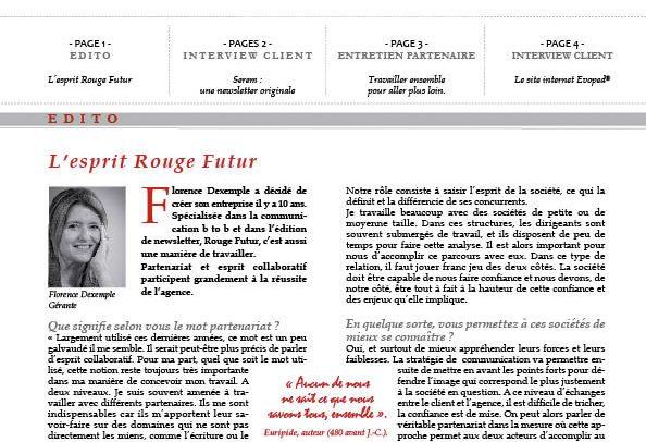 édition magazine agence d'édition rouge futur